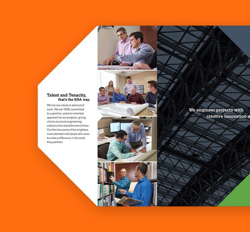 KNA brochure opened