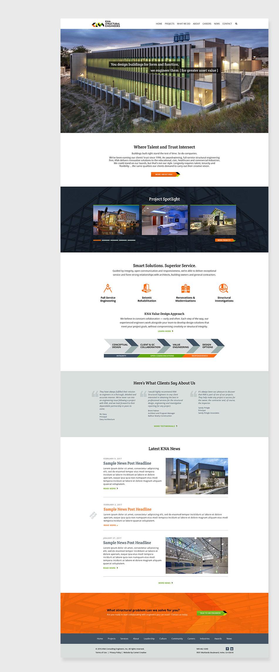 KNA site screenshots