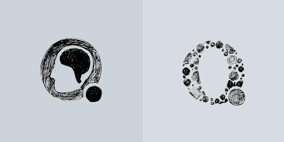 Qrons Logo drafts