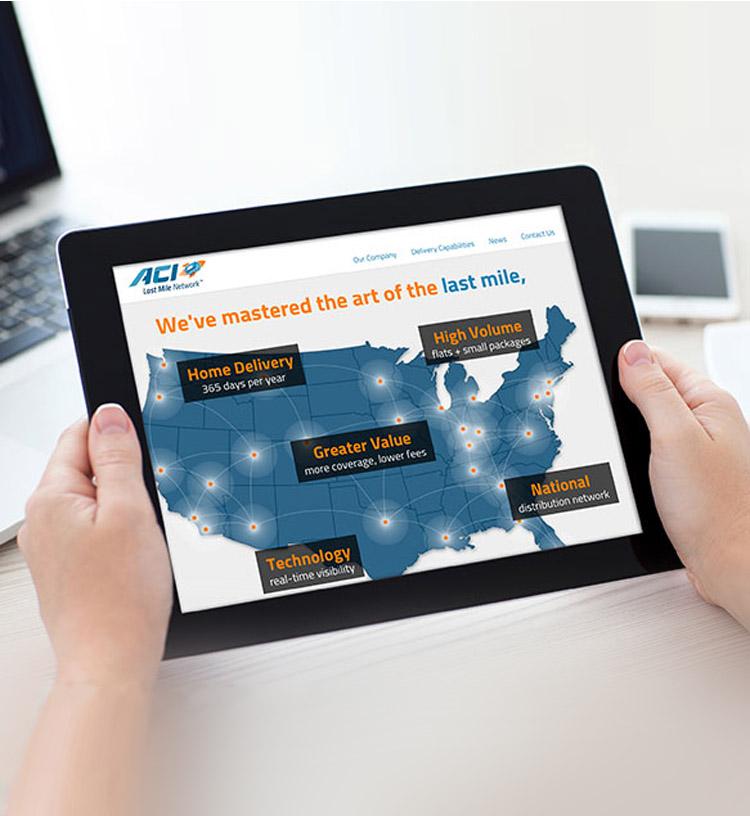 ACi Last Mile Network Website Home Page